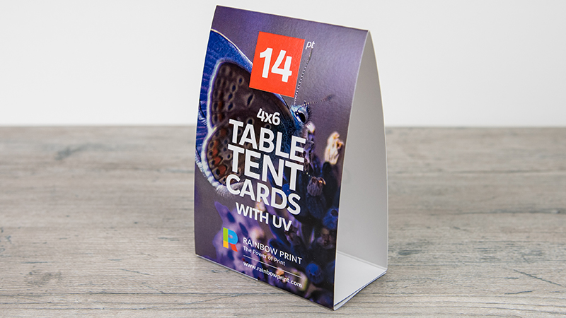 Table Tent Cards Rainbow Print - 4x6 table tent