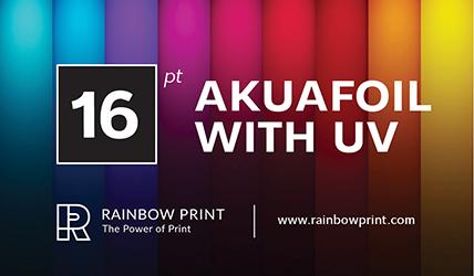 Akuafoil business cards rainbow print akuafoil business cards colourmoves