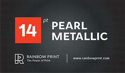 Pearl metallic business cards rainbow print pearl metallic business cards colourmoves